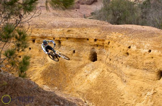Nick Beer riding the Yellow Canyon near Massa Marittima.